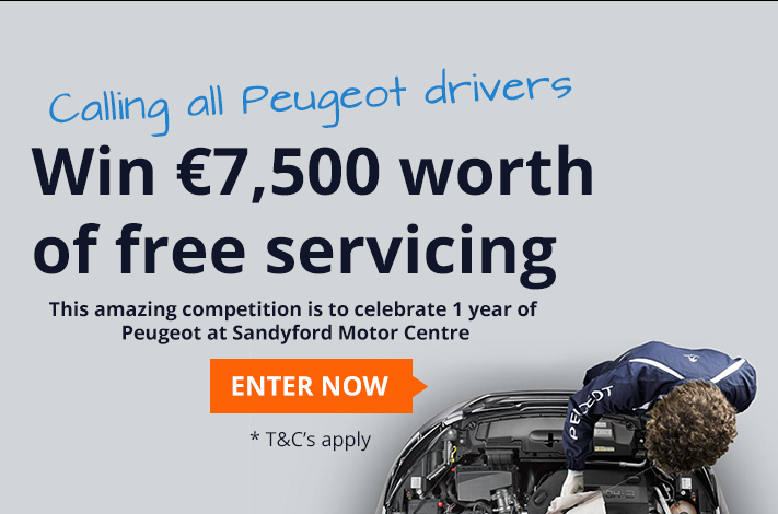 €7,500 worth of Peugeot servicing to be won!